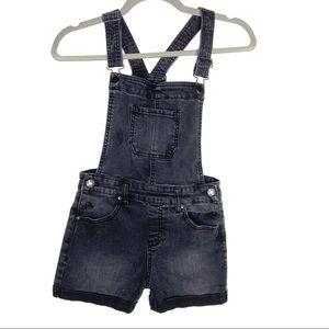 RSQ girls black overall denim shorts